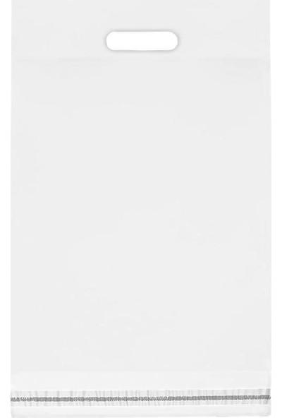 Morpack El Geçmeli Kargo Poşeti 24 x 30 + 5 cm Beyaz 100'lü