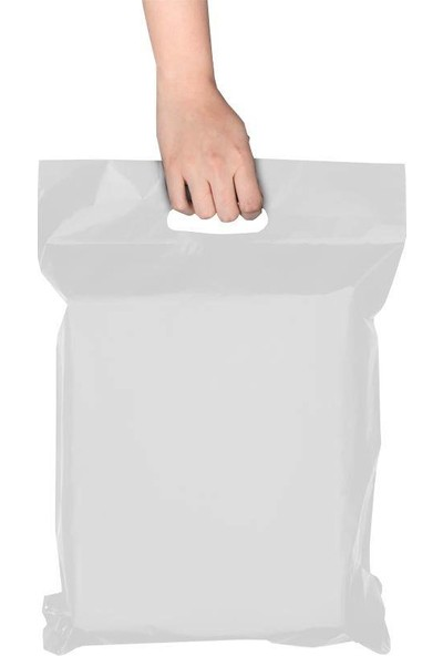 Morpack El Geçmeli Kargo Poşeti 35 x 45 + 5 cm Beyaz 1000'li