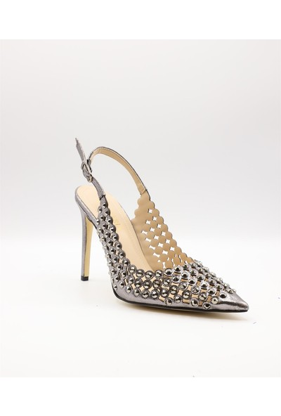 La Scada 4167 Gri Kadın Abiye Ayakkabı