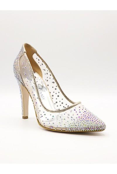 La Scada Mr5335 Dore Kadın Stiletto Ayakkabı