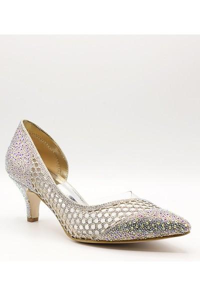 La Scada Mr5360 Dore Kadın Abiye Ayakkabı