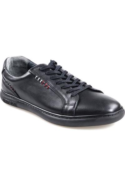 Goes 727 Kauçuk Taban Siyah Günlük Erkek Deri Ayakkabı