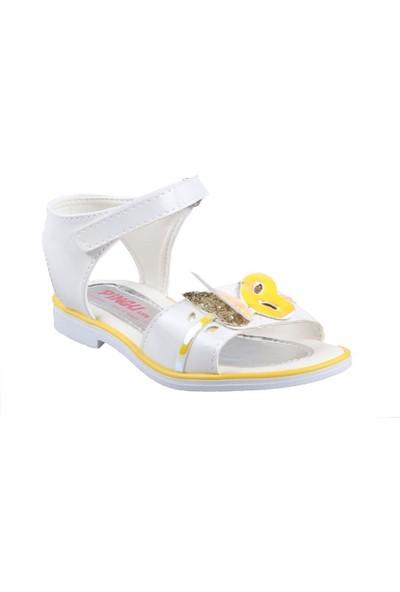 Pingu Beyaz Kız Çocuk Günlük Sandalet