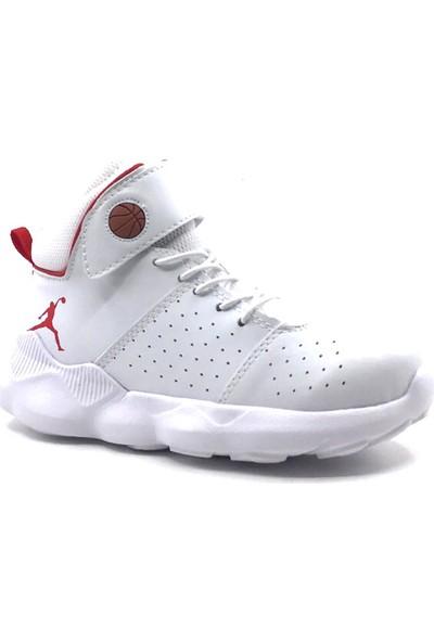 Ayakkabımood Cool Filet Beyaz Erkek Çocuk Basketbol Ayakkabısı