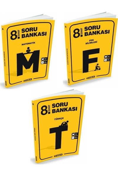 Hız Yayınları 8.Sınıf Soru Bankası Seti - 3 Kitap - M-T-F