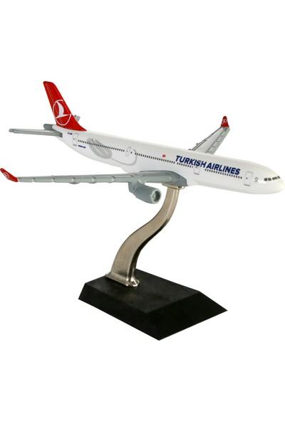 TK Collection Türk Hava Yolları 16 cm 1:400 Ölçekli A330 Metal Maket Uçak
