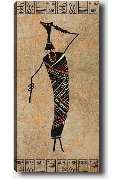 Shop365 Afrikalı Kız Kanvas Tablo 45 x 30 cm SB-70376