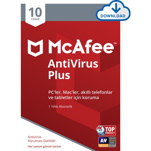 McAfee AntiVirus Plus 10 Cihaz Windows, iOS ve Android