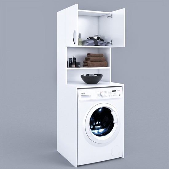 Fora Home Deep Banyo Dolabı Çamaşır Makinesi Dolabı