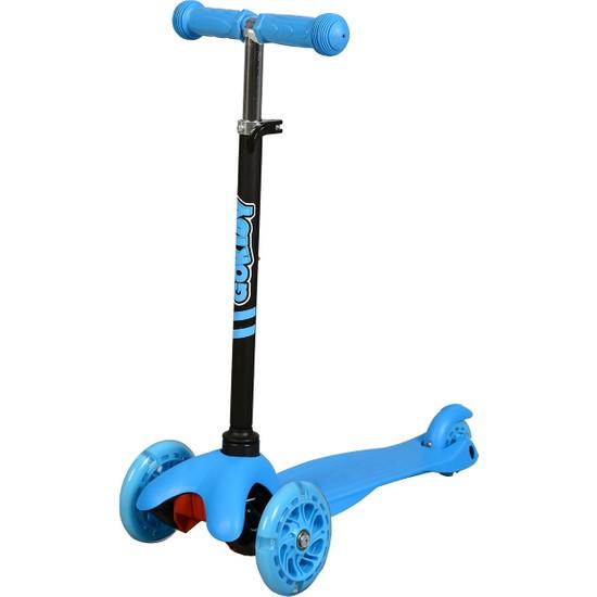 Rookie 3 Tekerlekli LED Işıklı Scooter - Mavi