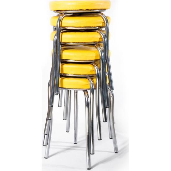 Ekip Shop Tabure Mutfak Sandalyesi 6 Adet Sarı