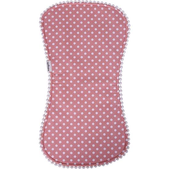 Miniyoki Pretty in Pink Pembe Omuz Bezi - Polka Dot Desenli Ponpon Şeritli