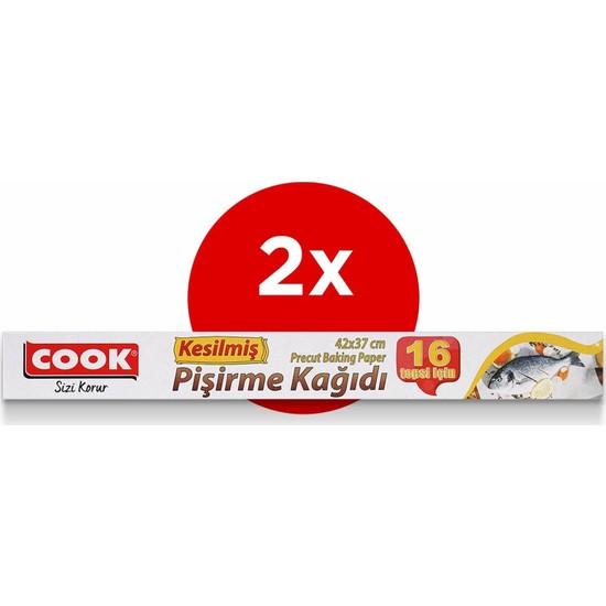 Cook 16'lı Kesilmiş Pişirme Kağıdı 42 x 37 cm 2'li Paket