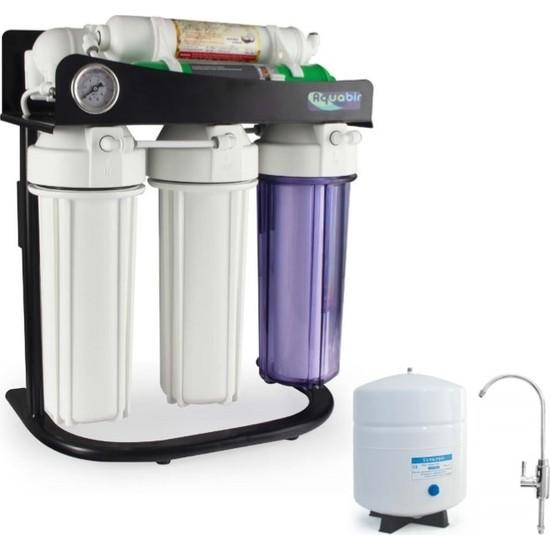 Aquabir 6A Standlı Manometreli Pompasız Su Arıtma Cihazı