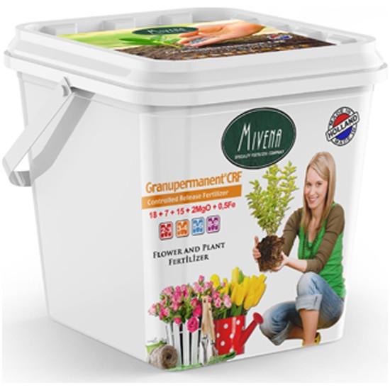 Gürçim Mivena Granupermanent® 18-7-15 + 2Mgo + 0,5 Fe Bitki Ve Çiçek Bakım Gübresi