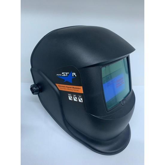 Maxstar Otomatik Kararan Kaynak Maskesi Ayarlı Düğmeli Baş Maskesi