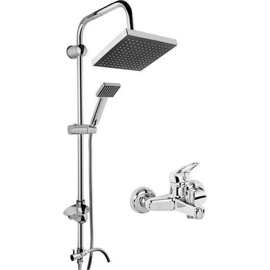Morponi Robot Kare Tepe Duş Sistemi Çok Fonksiyonlu Yağmurlama Duş Seti Aç Kapa Banyo Bataryalı