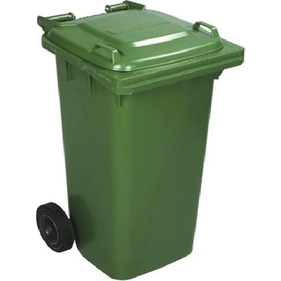 Safell Plastik Çöp Konteyneri 240 Litre Konteyner - A+ Isıya Karşı Dayanıklı Malzeme - Yeşil
