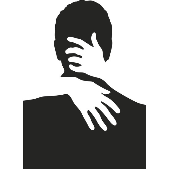 Sa Lazer Ev Dekoratif Sevgili Desenli Ahşap Siyah Dekor Tablo