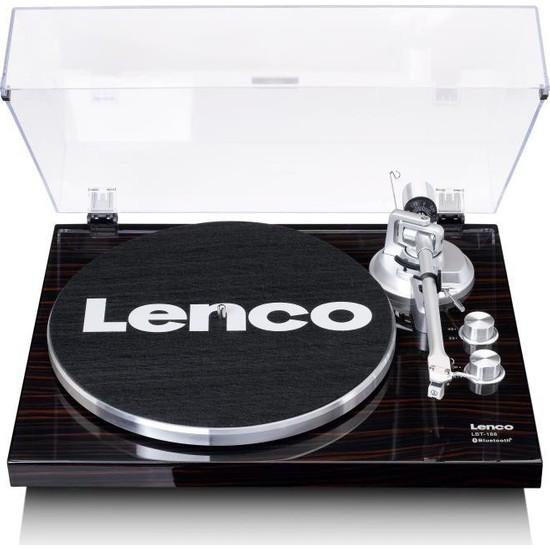 Lenco LBT-188 Wa Retro Koyu Kahverengi Bluetoothlu Pikap Plak Çalar
