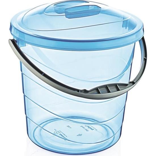 Çankaya Plastik Kapaklı Su Kovası 20 lt (Şeffaf)