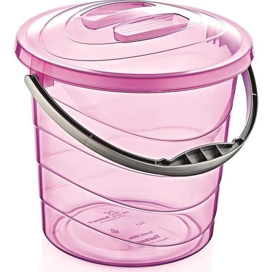 Çankaya Plastik Kapaklı Su Kovası 5 lt (Şeffaf)