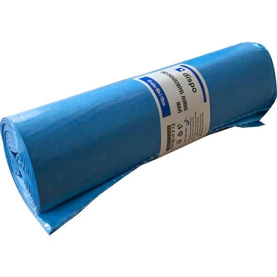 Dispo Eko Endüstriyel Jumbo Mavi Çöp Torbası 10'lu 80X110