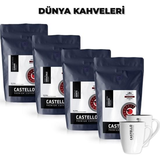 Castello Dünya Kağıt Filtre Kahveleri Paketi 1000 GR Single Origin