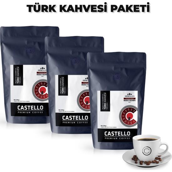 Castello Türk Kahvesi Paketi 750 Gr Single Origin