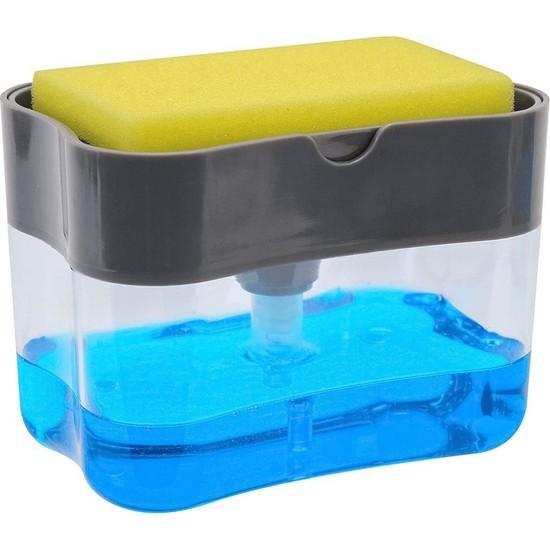 Viselia Sıvı Sabunluk Pompalı Sünger Hazneli Sıvı Sabun Dispenseri 385 ml