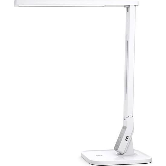 TaoTronics TT-DL02 Doğal Akıllı 14W LED Masa Lambası Philips EnabLED Programı Üyesi Beyaz (4 Renk 5 Kısıklık Dokunmatik Ayarlı)