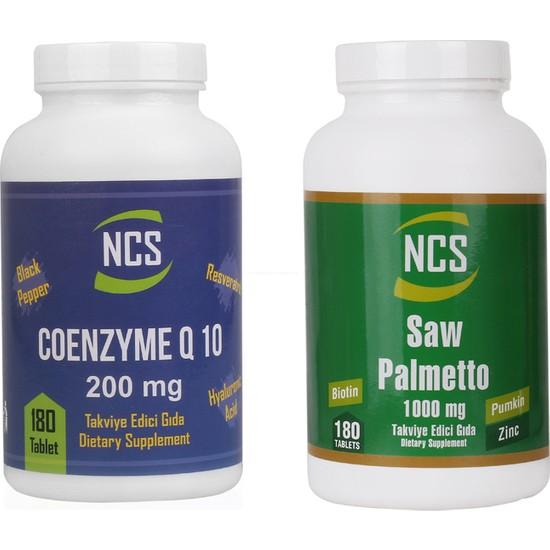 Ncs Saw Palmetto 1000 mg 180 Tablet Coenzyme Q - 10 200 mg 180 Tablet