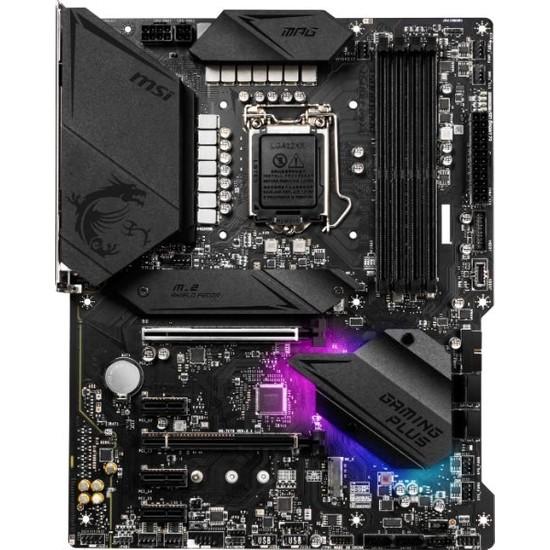 MSI MPG Z490 Gaming Plus Soket 1200 DDR4 4800 (OC) PCI-E Gen 4 ,M.2 USB3.2 RGB 1x 2.5G LAN ATX Anakart