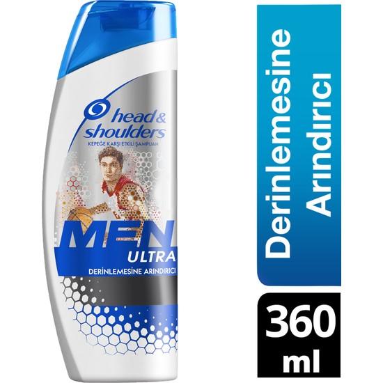 Head & Shoulders Men Ultra Erkeklere Özel Şampuan Derinlemesine Arındırıcı 360 ml