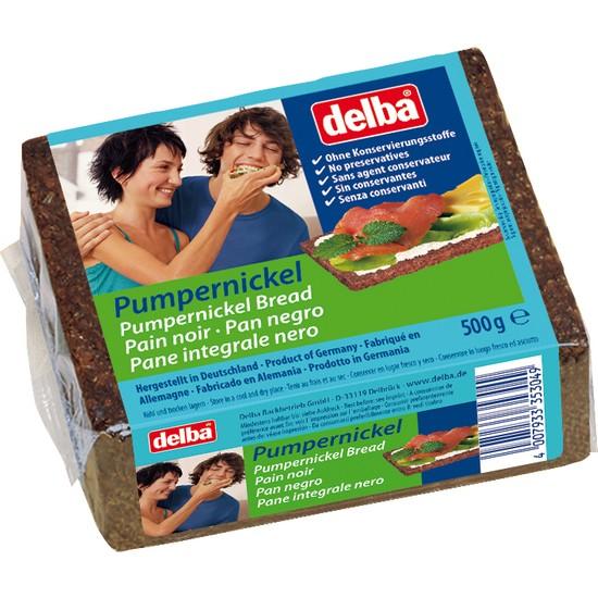 Delba Pumpernickel / Tam Tahıllı Siyah Çavdar 500 gr