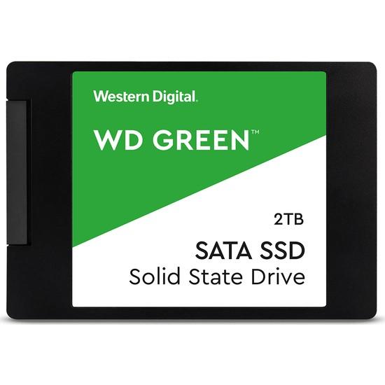 """WD Green 2TB 2300MB/s - 3100MB/s 2.5"""" Sata 3 SSD WDS200T2G0A"""