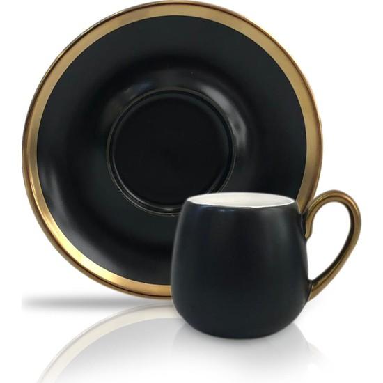 Winterbach Siyah Altın 6'lı Türk Kahvesi Fincanı