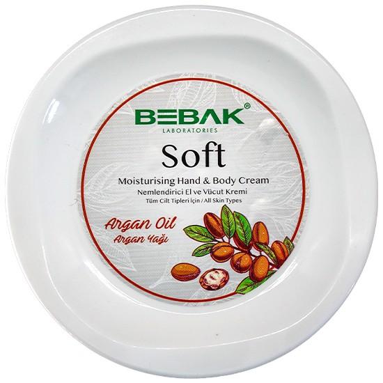 Bebak Argan Yağı Soft Nemlendirici Bakım Kremi Kavanoz 300 ml