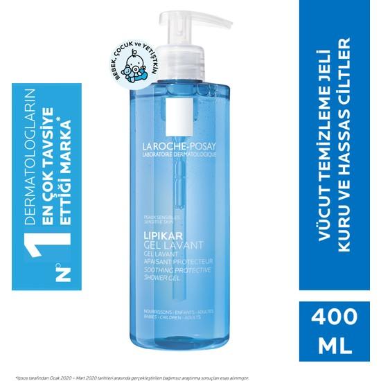La Roche-Posay LipikarGel Lavant Koruyucu&Yatıştırıcı Vücut Jeli Tüm Aile 400Ml