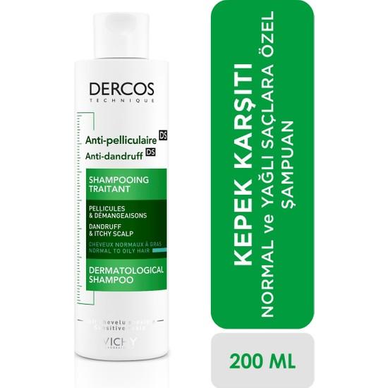 Vichy Dercos Kepeğe Karşı Etkili Bakım Şampuanı Normal/Yağlı Saçlar 200 ml