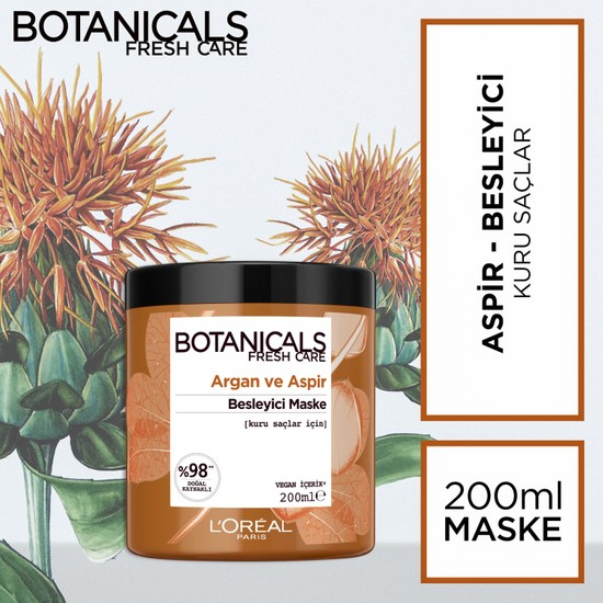 Botanicals Fresh Care Argan ve Aspir Besleyici Maske 200 ml