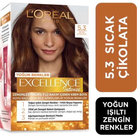 L'Oréal Paris Excellence Intense Saç Boyası 5.3 Sıcak Çikolata