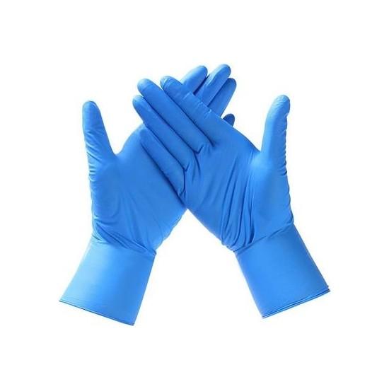 Ntı I-Glove Mavi Latex Eldiven Koruyucu Kaydırmaz Dokulu L 50'li