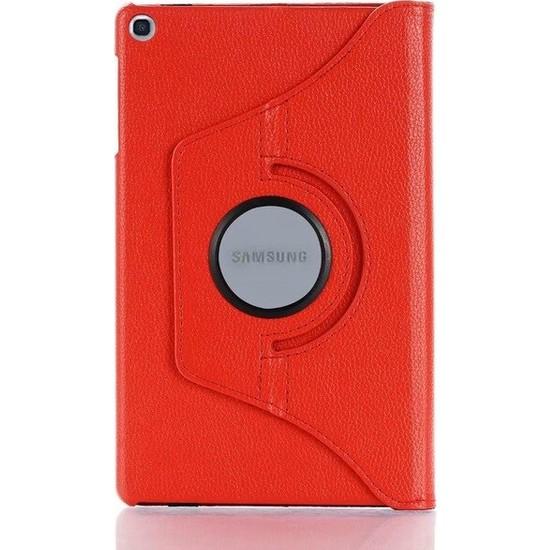 """Fibaks Samsung Galaxy Tab S5E SM-T720/T725/T727 10.5"""" Kılıf + Kalem 360 Derece Dönebilen Standlı Tam Koruma Uyku Modlu Kapaklı Kırmızı"""