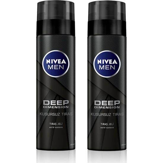 Nivea Tıraş Jeli Deep Dimension 200 ml x 2 Adet