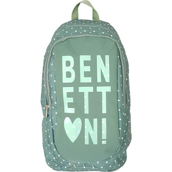 Benetton 95007 Okul Sırt Çantası Su Yeşili