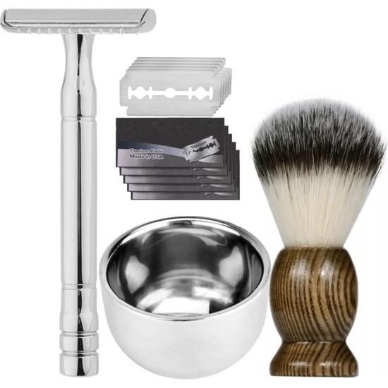 Qualis Shave S6 Tıraş Makinesi + Fırça + Kase + 5 Adet Jilet