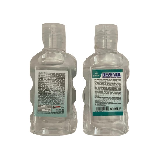 Sıhhat Dezenol Hidroalkolik El Antiseptiği Sıvı 50 ml 96'lı Koli