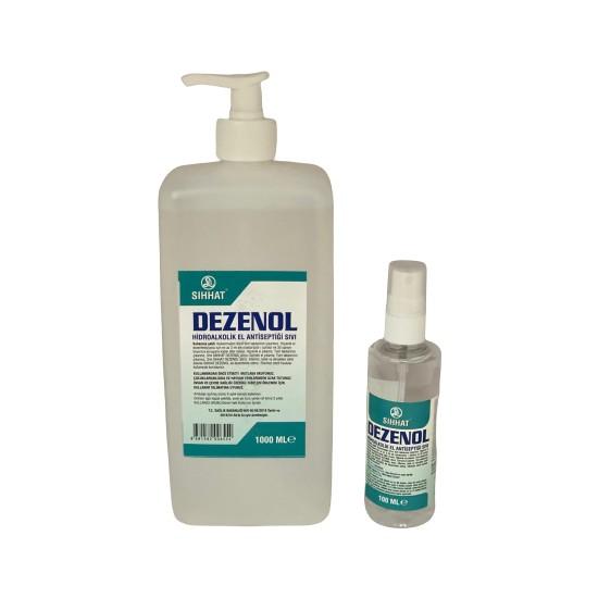 Sıhhat Dezenol El Dezenfektanı 1 lt + Dezenfektan 100 ml + Pompa