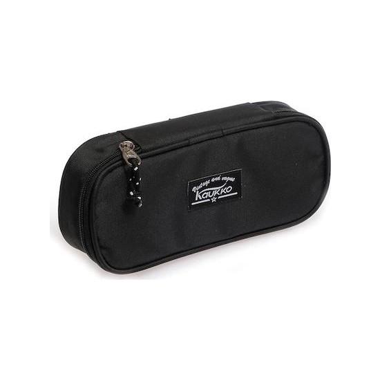Kaukko Özel Bölmeli Kalem Çantası (Kalemlik) Siyah K2070